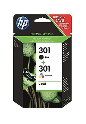 HP N9J72AE 301 - Cartouche d'encre originale - Noire et Tricolore - Lot de 2 par HP - Cartouches d'encre