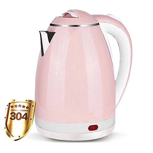 gaozhonghua Wasserkocher Pink 2L Mini-Reisekocher Tragbarer Wasserkocher Home Hostel Small Große Kapazität Geringe Leistung,Pink
