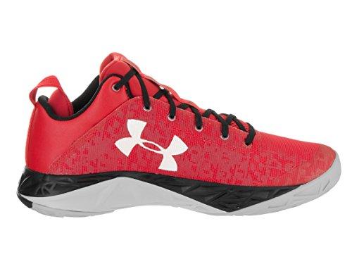 Under Armour, Fire shot bassa scarpa da basket Red/Blk/Wht