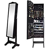 Full Length Jewelry Cabinet With Mirror [black]