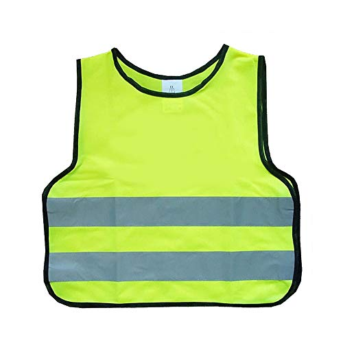 Warnweste Gelb Kinder |Flexibel, Leicht, Einstellbar (Size : 2 Pack S) ()