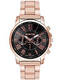Fashion Reloj de pulsera aspecto de Cronógrafo Acero inoxidable Reloj de cuarzo Hombre Reloj mujer RELOJ