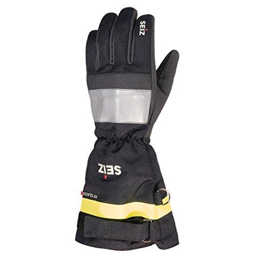 feuerwehrhandschuhe seiz Size Feuerwehrhandschuh Fire-Fighter Classic | Handschuh für Feuerwehreinsatz aus Kevlar und Nomex | Arbeitshandschuh mit Reflexstreifen aus 3M Scotchlite Gr. 11