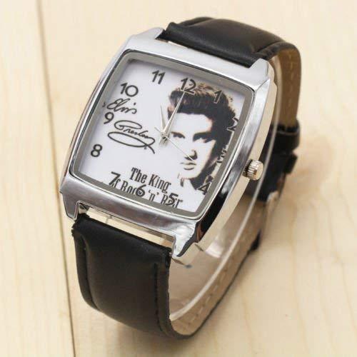 Kent MarkS Elvis Presley Rock 'n' Roll Armbanduhr, quadratisch, Edelstahl