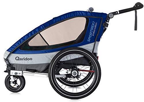Qeridoo Sportrex 1 Limited Edition Kinderanhänger 2018, Farbe:Limited blau