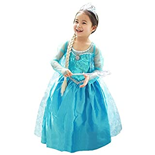 About Time Co Girls' Princess Snow Queen Fancy Dress (3-4 years)