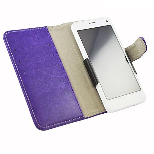 Slide Tasche Hülle Case Cover Schutz Cover Etui Violett für Archos 40 Neon