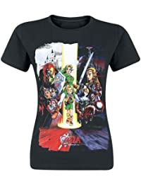 The Legend of Zelda Nintendo Legend of Zelda Women's Ocarina of Time Cast Print T-Shirt - Camiseta Mujer