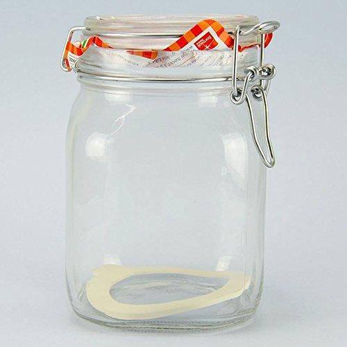 Bormioli - Barattolo di vetro con chiusura a gancio
