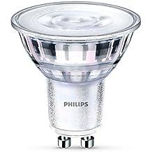 Philips LED  Bombilla spot cristal  de 4,4w (35w) casquillo GU10, 36 grados de apertura,luz cálida 2700k,  regulable