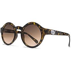 American Freshman Mode-Runde Sonnenbrillen in schildpatt AFS005 One Size Brown Gradient