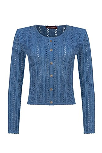 Lieblingsgwand Damen Trachten-Strickjacke blau Lisa 002816