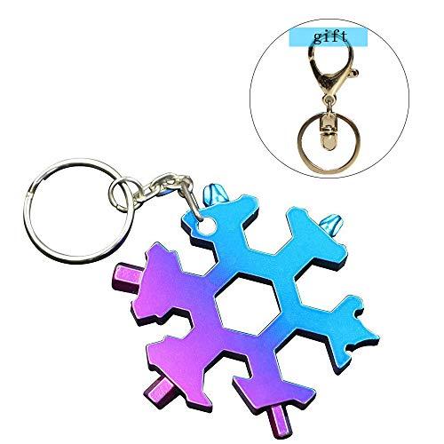 Clé à flocons de neige en acier inoxydable standard (porte-clés cadeau)
