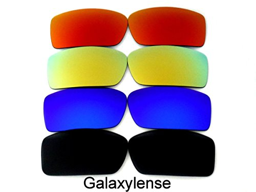 Galaxis Ersatzgläser für Oakley Gascan Schwarz/Blau/Gold/Rot Farbe Polarisiert.