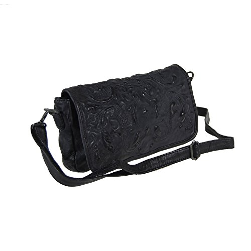 Billy the Kid Marokko Ella Sac bandoulière cuir 29 cm Black