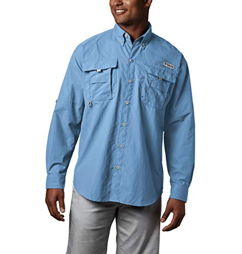 Columbia Herren PFG Bahama II Langarmshirt, Herren, Men's PFG BahamaTM II Long Sleeve Shirt, Sail, Medium - Boot-tools