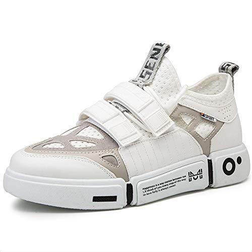 LZLHYH Scarpe da Ginnastica da Uomo Flessibili E Comode Scarpe Sportive E da Corsa, Stile Hip Hop Comfort Comfort Traspirante, Scarpe da Ginnastica per Uomo alla Moda,Bianca,39