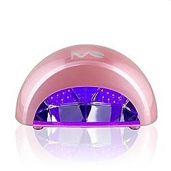 MelodySusie® 12W violette LED Nageltrockner 30s superschnell Aushärtung Lichthärtegerät für LED Gel & Gelish Nagellack mit Timer, Rosa