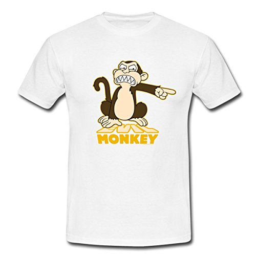 Family Guy Evil Monkey Männer T-Shirt von Spreadshirt®, XXL, Weiß - Monkey-t-shirt Evil