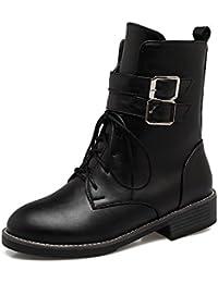 MEI&S Ocio Mujer tirante inferior plana botas zapatos