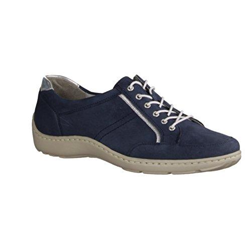 WALDLÄUFER HENNI 496013278206 femmes Chaussures à lacets Bleu