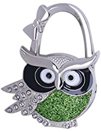 MagiDeal Assorted Owl Design Brilliant Handbag Purse Lock Hanger Hook H For Ladies - #4