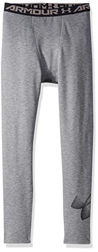 Under Armour Jungen ColdGear Leggings, Graphite Light Heather/Black(040), YSM (Coldgear Under Armour Youth)