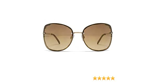 2371a49843 French Connection Cut Out Rimless Sunglasses in Shiny Gold FCU639  Amazon.co .uk  Clothing