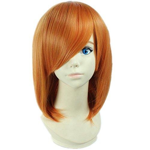 COSPLAZA Cosplay Kostueme Peruecke Death Note Mero kurz Orange Anime Haar (Orange Perücke Kostüm)