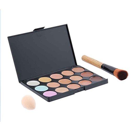 LUFA 15 Couleur Contour Visage Maquillage Concealer Palette Éponge Bouffée Poudre Pinceau Set