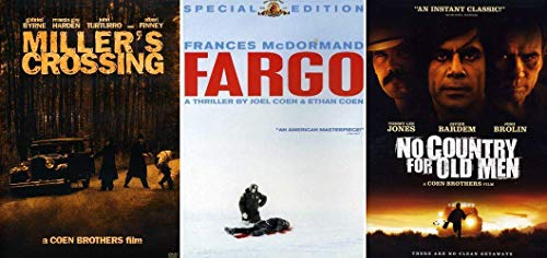 Coen Brothers: Essential Dramas 3 Movie DVD Collection (Fargo / No Country for Old Men / Miller's Crossing)
