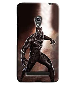 Blue Throat Man With Dress Angry Printed Designer Back Cover/ Case For Asus Zenfone 5