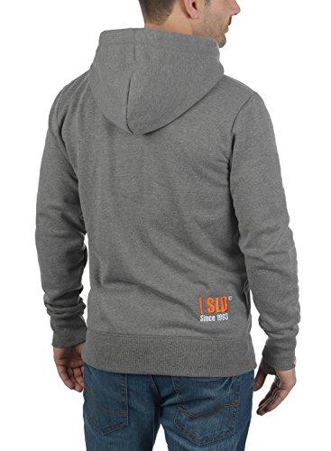 SOLID BennZip Herren Sweatjacke Zip Hoodie Kapuzenjacke Grey Melange (8236)