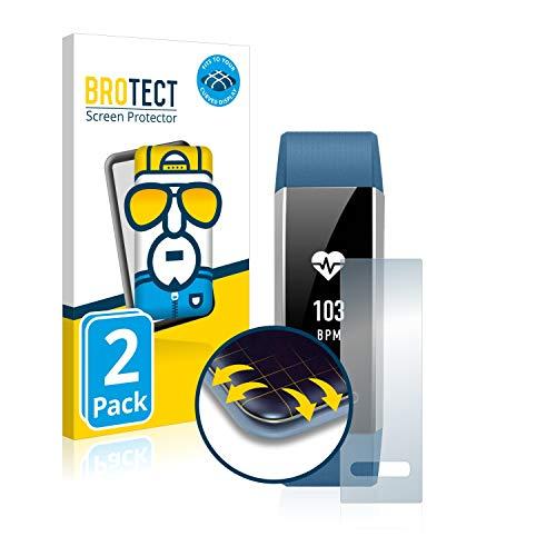 BROTECT Full Cover Schutzfolie kompatibel mit Huawei Band 2 Pro [2er Pack] - Full Screen Bildschirmschutz, 3D Curved, Kristall-Klar