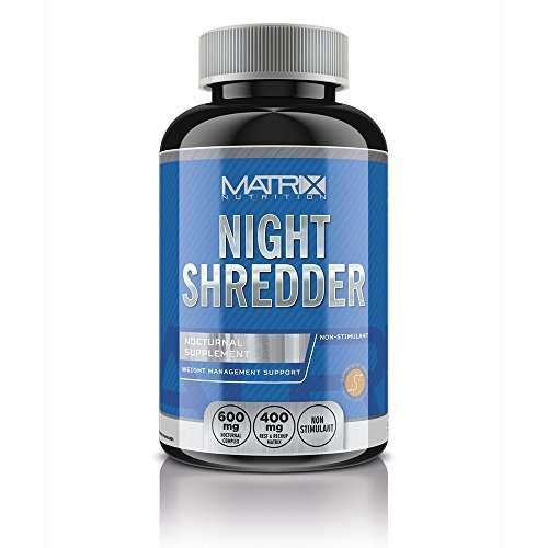 Matrix Nutrition Night Shredder Fat Burner Tablets - Weight Loss - Raspberry Ketone – Slimming. (120 Tablets)