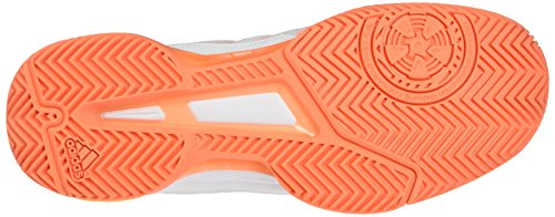 adidas Barricade Club, Scarpe da Tennis Uomo Bianco (Ftwr White/solar Gold/glow Orange S14)