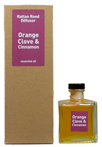 Nelke Diffusor (Raumbedufter Diffusor ORANGE, NELKE & ZIMT 200 ml mit ätherischen Ölen)