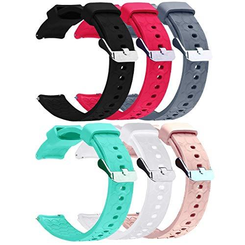 Ruentech Bands Kompatibel mit Fossil Q Damen Gen 3 Venture Touchscreen Smartwatch/Fossil Q Damen Gen 4 Venture HR/Fossil Q Damen Tailor Hybrid Strap Band Silikon-Armband -