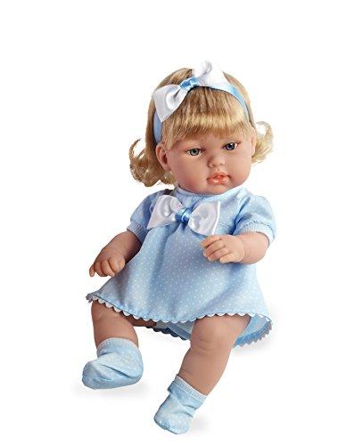 Arias - Muñeca bebé dulcito, color azul, 33 cm (60154)