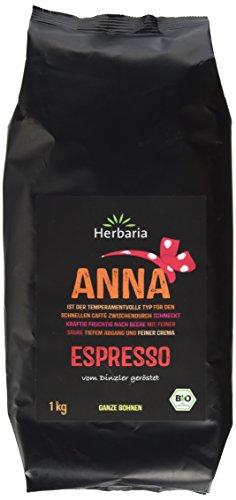 Herbaria Anna Espresso ganze Bohne BIO, 1er Pack (1 x 1 kg)