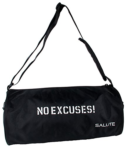 Salute Polyester 11Litres Black Gym Bag