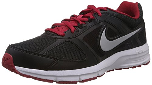 Nike Men's Air Relentless 3 MSL Black, Metallic Silver and White and Red Mesh Running Shoes -11 UK/India (46 EU)(12 US)  available at amazon for Rs.3521