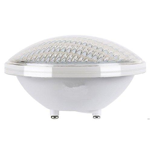 LED Poolbeleuchtung, PAR56 24W Farbwechsel Wireless RGB Fernbedienung LED Ersatzlampe 12V AC/DC IP68 Wasserdicht Unterwasser LED Poolbeleuchtung,Ersetzen 300W Halogen Spot