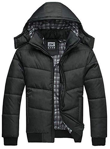 ab37c20aacd Elodiey Chaqueta De Transición Longsleeve Warm Mens Coat Winter con Capucha  Joven De Color Sólido Leisure