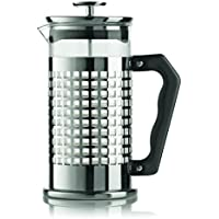 Bialetti Trendy Single french press 1L - cafeteras de émbolo (Single french press, Vidrio, Acero inoxidable, Acero inoxidable, Transparente)