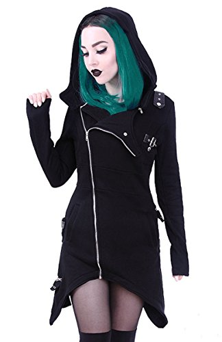 Dark Dreams Gothic Steampunk Emo Kapuze Zipfel Jacke Hoodie Restyle 40 42 44 46 M L XL XXL, (Genial Kostüme Steampunk)