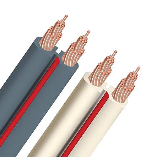 Audioquest Lautsprecherkabel X2 Meterware, weiß Audioquest Kabel Weiß