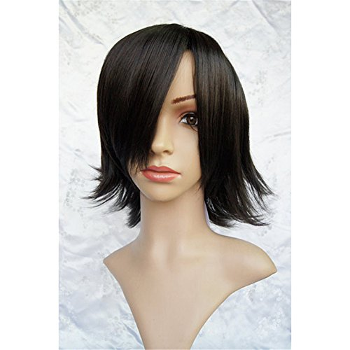 LanTing Cosplay Perücke Pandora Hearts Cheshire cat Black Perücke Corta Cosplay Party Fashion Anime Human Costume Full wigs Synthetic Haar Heat Resistant Fiber (Erwachsene Cheshire Cat Kostüme)