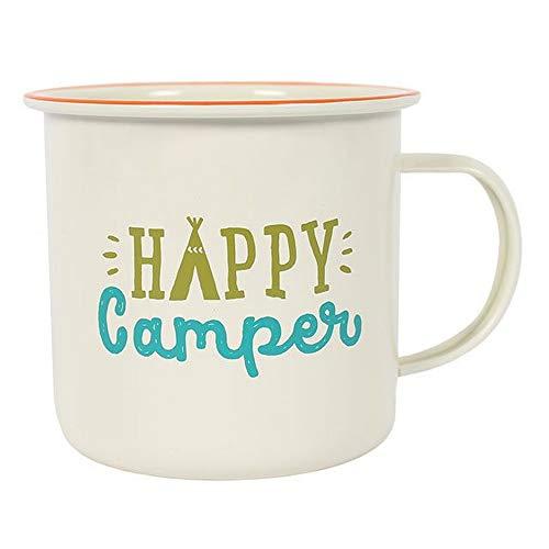 Something Different Happy Camper Emaille-Becher (Einheitsgröße) (Bunt) - Becher Happy Camper