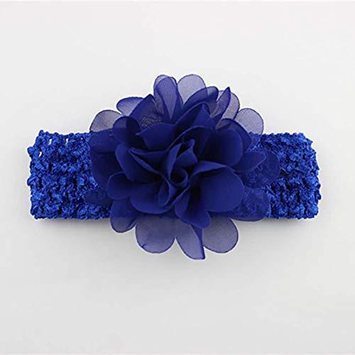 hen Haarband Chiffon Blume Haarschmuck Spitze Band Neugeborene Kopfbedeckung königsblau ()